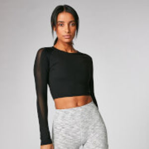 Síťovaný Power crop top - XL