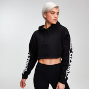 MP Women's Rest Day Logo Cropped Hoodie - Black - S