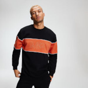 MP Men's Rest Day Stripe Sweatshirt - Black - XXL
