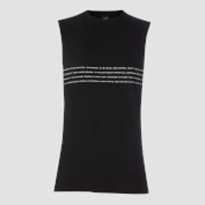 Rest Day Slogan Drop Armhole Tank - Black - XS