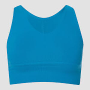 Power Longline Sports Bra - Sea Blue - XS