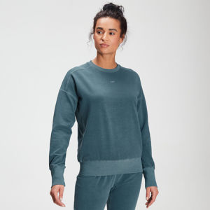 MP Women's Raw Training Washed Crew Sweatshirt - Deep Sea Blue - XS