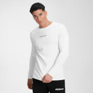 MP Men's Contrast Graphic Long Sleeve Top - White - S