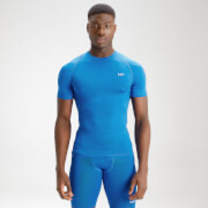 MP Men's Essentials Training Base Layer Short Sleeve Top - True Blue - XXS