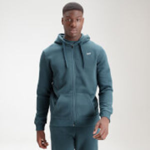 MP Men's Essential Zip Through Hoodie - Deep Sea Blue - XXS