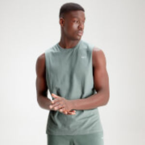 MP Men's Essential Drop Armhole Tank - Washed Green - L