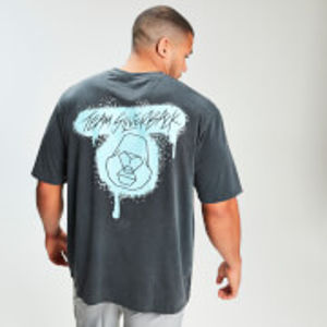 MP x Zack George Acid Wash Oversized Tee - Neon Blue - XS