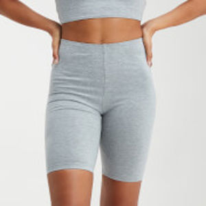 MP Women's Outline Graphic Cycling Shorts - Grey Marl - L