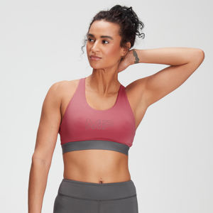 MP Women's Branded Training Sports Bra - Berry Pink  - XL