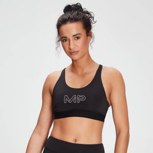 MP Women's Branded Training Sports Bra - Black  - M