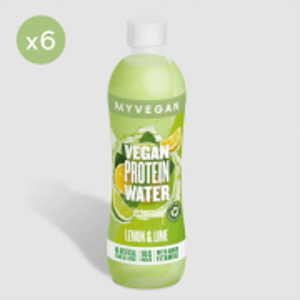 Clear Vegan Protein Water - 6 x 500ml - Láhev - Lemon Lime